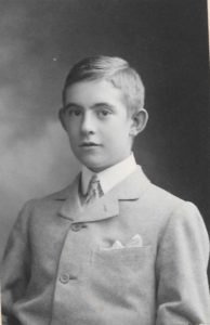 Gibbs as a boy at Winchester College