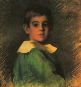 Portrait of Gibbs as a child