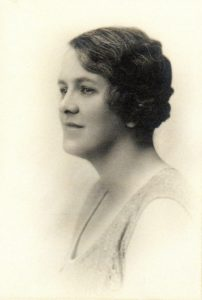 His wife, Honor, in the 1930