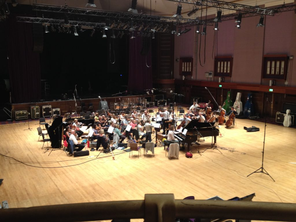 BBC concert orchestra under Ronald Corp recording the Enchanted Wood in2015