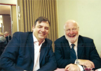 Robert Atchison, Artisitic Director of our Gibbs Festivals, with Christopher Kingsley, our late Chairman of the AGS.